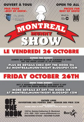 Flyer Montreal Munny Night