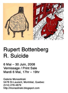 Rupert Bottenberg + Richard Suicide art show